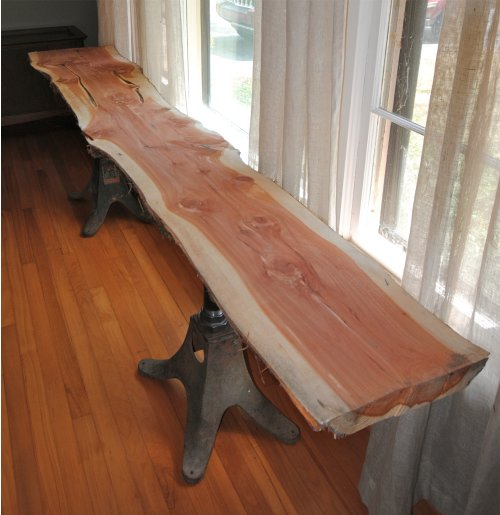 Cedar Wood Plank Table 3. wood slab table   5 Dogg Farm